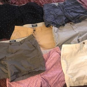 7 pair Old Navy Shorts. Size 10. Almost new!